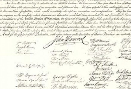 On this day, the Declaration of Independence is officially signed