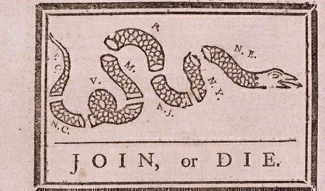 The story behind the Join or Die snake cartoon - National