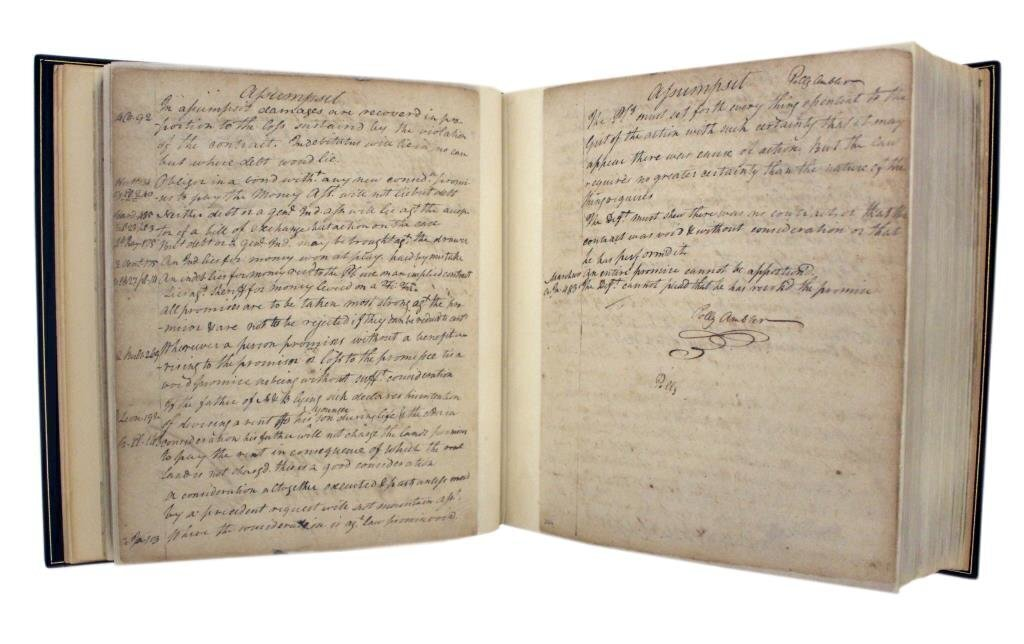 Law Commonplace Book, ca. 1780