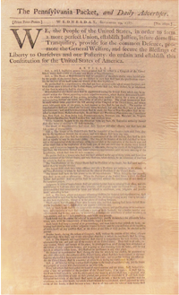 First Public Printing of the Constitution