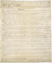 Signed, Handwritten Constitution