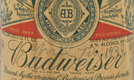 Budweiser Beer Bottle, 1933