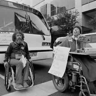 People in wheelchairs demonstrate<br>Image Donated by Corbis - Bettmann